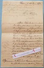 L.A.S 1852 Colonel GARDARENS DE BOISSE   Général RENAULT - 6è Régiment de Ligne