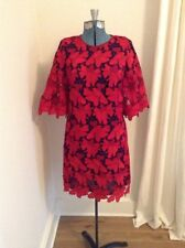 9115fa3afde NEW Tory Burch Nicola Mod Lace Shift Dress Size 8 Red Navy