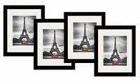 STUDIO 500 4-VALUE PACK~11 X 14-inch Smooth Black Modern Luxury Picture Frames