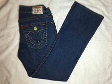 Authentic Womens True Religion Becky Boot Denim Blue Jeans - Size 28 - EUC