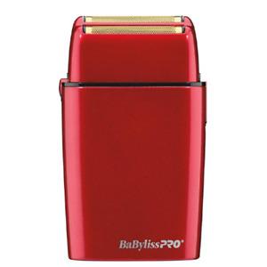 Babyliss Pro FOILFX02 Red Cordless Double Foil Shaver 110-220 Volts FXFS2R