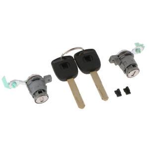 Pair Left &Right Driver Side Door Lock Cylinder w/2 Keys for Honda Civic