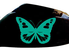 Butterfly Girl Car Stickers Wing Mirror Styling Decals (Set of 2), Turquoise