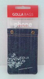 Golla G1072 Rivetto Denim Universal Smart Phone Pocket Pouch Sleeve Dark Blue