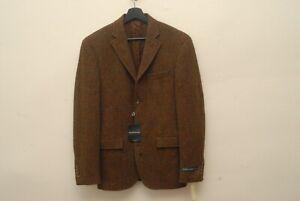 NWT Polo Ralph Lauren 4 btn HEAVY tweed sport coat Corneliani 38R