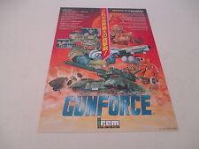 > GUN FORCE GUNFORCE ARCADE IREM SHOOT ORIGINAL JAPAN HANDBILL FLYER CHIRASHI! <