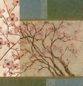 """36W""""x36H"""" APPLE BLOSSOM by ELISE REMENDER - ROSE PINK PEDALS ORCHID CIDER CANVAS"""