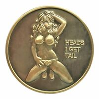 Poster Pin Up Bikini Babe Head Tail Good Luck Challenge Coin US SELLER FAST SHIP