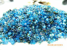 8/0  Deep Blue Sea Mix Miyuki  Glass Round Seed Beads 10Grams