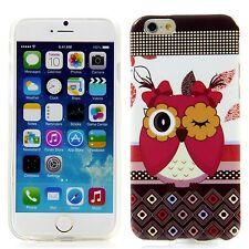 Apple iPhone 6 6S (4,7) Silikon Case Schutz Handy Hülle Cover Blink Eule Owl