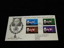 Vintage Cover,ADEN, FEDERATION SOUTHERN ARABIA, FDC,1965,Winston Churchill,To UK