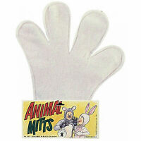 White Felt Cartoon Hands Gloves Mitts Mickey Minnie Mouse Costume Accessory
