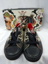 Nos DRAVEN TOKYO HIRO TATAKAI Asian Tattoo Leather Low Top Sneakers Shoes 4.5