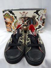 Nos DRAVEN TOKYO HIRO TATAKAI Asian Tattoo Leather Low Top Sneakers Shoes 4.5