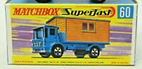 Matchbox Lesney Superfast No 60 OFFICE SITE HUT TRUCK  Repro empty box style G