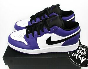 Nike Air Jordan 1 Retro Low Court Purple Black White UK 6 US 7 New