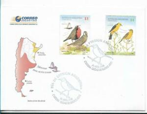 ARGENTINA 2008, BIRDS, MERCOSUR, FDC, 2 VALUES, FIRST DAY COVER FAUNA VF