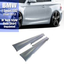 M Tech Style Side Skirt Unpainted PP for BMW 2008-2013 E82 Coupe and Convertible