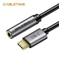 Cabletime USB Type C to Audio 3.5mm jack to AUX Headphones Adapter for Huawei