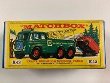 Coche Matchbox King Size K-12 Heavy Breakdown/ wreck Truck