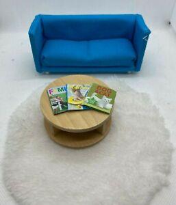 Lundby Dollhouse Sleeper Sofa and Accessories