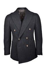 New $3.2K Stile Latino Attolini handmade blazer US 38 EU 48 herringbone brown