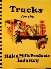 1928  Graham & Dodge Brothers Sales Manual Trucks For The Milk & Milk Products I