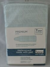 New Homz Cotton Padded Ironing Board Cover Light Blue White Elastic Wstraps