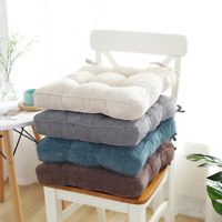 Thick Seat Cushions Chair Seat Pad with Ties Corduroy Room Garden Office Cushion