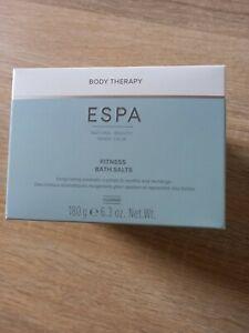 New Boxed ESPA Fitness Aromatherapy Eucalyptus Arnica Dead Sea Bath Salts 180g
