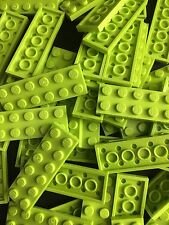 LEGO New lot of 24 2x6 Lime Green Flat Tiles Building Plate Cars Parts Friends
