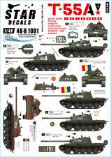 Star Decals 1/48 Soviet T-55A Tanks Part 1 Cold War # 48-B1001