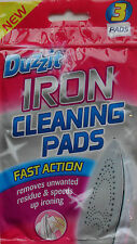 Iron Cleaning Pads, Soleplate Cleaner, No Harsh Chemicals, Pack of 3 by Duzzit
