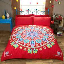 Bohemian Mandala Ethnic Duvet Quilt Cover Bedding Set Red