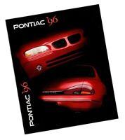1996 Pontiac Brochure w/ Color Charts: FIREBIRD,TRANS,GRAND AM,PRIX,BONNEVILLE,