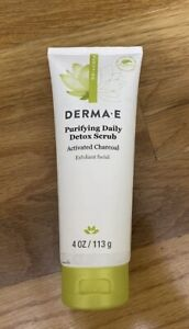 Derma E Purifying Daily Detox Scrub Activated Charcoal 4.0 oz Brand New A2