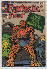 FANTASTIC FOUR # 51 1966 THING Classic This Man This Monster JACK KIRBY VG 4.0
