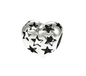 Genuine Pandora Genuine Starry Heart Openwork Charm 791393