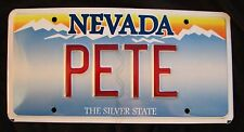 "NEVADA Vanity License Plate  "" PETE "" PETER PETERSON  PETIE  PETA"