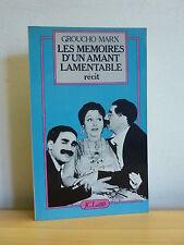 Groucho MARX * Les mémoires d'un amant lamentable