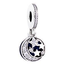 S925 Sterling Star silver charm dangle pendant Bead For European bracelet bangle