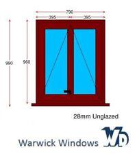 Rosewood Unglazed UPVC Window (790w x 990h [inc. cill])