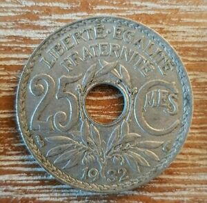 (#519) FRANCE  Pièce de 25 centimes 1932 Lindauer Cupro-nickel 5,00 grammes