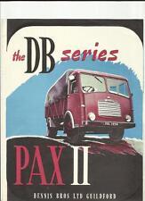 DENNIS 'PAX' II  DB SERIES LORRY TRUCK SALES BROCHURE 1958