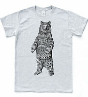 Navajo Bear Sketch T Shirt Indie Henna Tattoo Style Aztec Hipster Tee