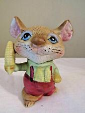 Homco Figurine Mouse Holding Corn #5601