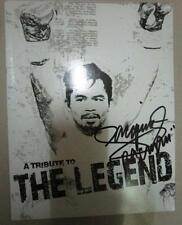 MANNY PACQUIAO TRIBUTE THE LEGEND AUTHENTIC AUTOGRAPH book OUT OF PRINT PHOTO