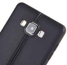 For Samsung Galaxy A7 - Luxury Gel TPU Rubber Silicone Slim Fit Case Cover Black