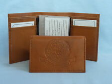 United States Navy  USN   Leather TriFold Wallet    NEW    brown 2