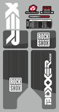 ROCK SHOX BOXXER 2010 FORK / SUSPENSION DECAL SET  GRAY